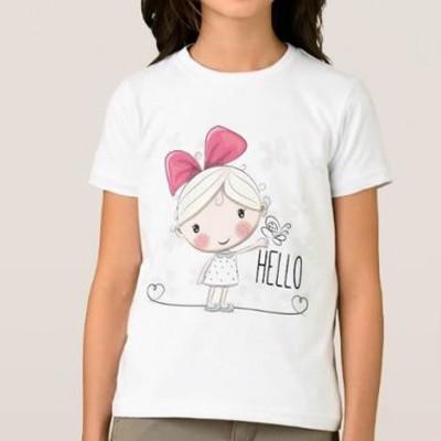 T-shirt Menina Hello