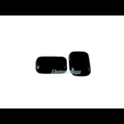Conta Rectangular Preto 12x8mm