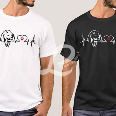 T-shirt Batimentos Cardiacos Golden Retriever