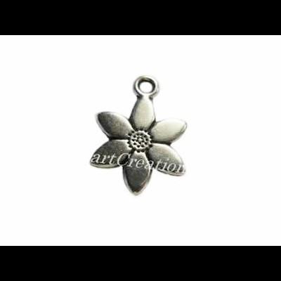Pendente Flor em Metal 12mm