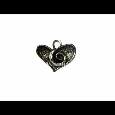 Pendente Coração c/ Espiral 15x17mm
