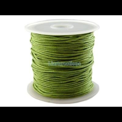 Fio Algodão Encerado 1mm Verde