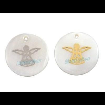 Medalha em Madrepérola com Anjo