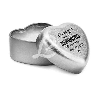 Bálsamo Labial em Caixa em Forma de Coração c/ Tampa Personalizada