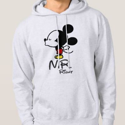 Sweatshirt Grossa c/ Capuz - Mickey, MR. Right