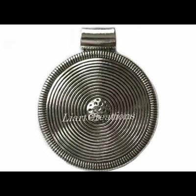 Medalhão Redondo 82x68mm