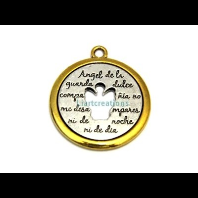Medalha c/ Anjo Recortado 41x36mm