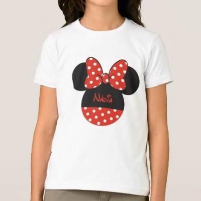 T-shirt Menina Cabeça Minnie c/ Nome