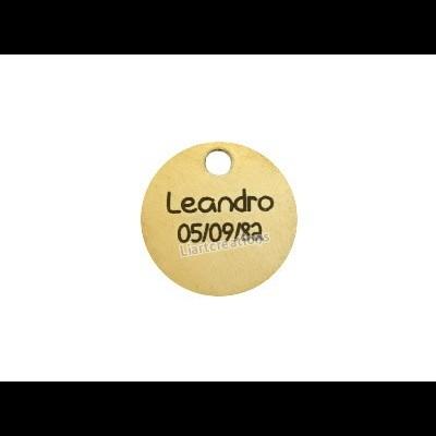 Medalhinha  Latão c/ Gravação de Nome + Data