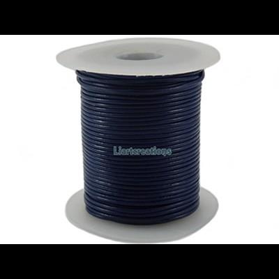 Fio de Cabedal 1mm Azul Escuro