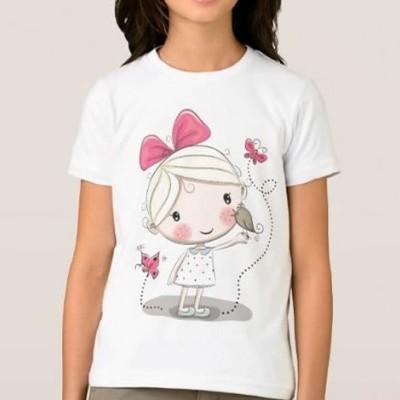 T-shirt Menina c/ Passarinho