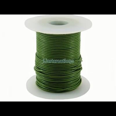 Fio de Cabedal 1mm Verde