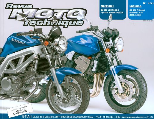 F131 Suzuki SV650 Honda CB900 Hornet 2002-03