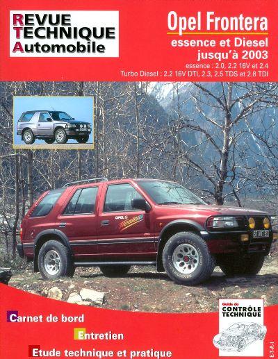 Opel Frontera Gasolina & D - 2003 (RTATAP369)