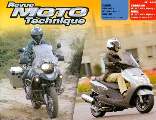 F145 BMW R1200 RT/GS - YP125 D/E Majesty (01-07)