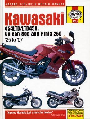 Kawasaki 454LTD/LTD450, Vulcan 500/Ninja 250 85-07