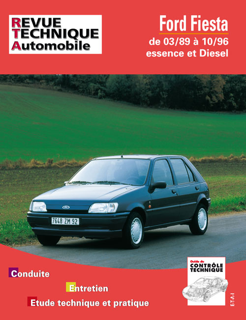 Ford Fiesta Essence & D Courrier 1989-96 (RTA512)