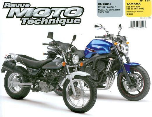 F151 Suzuki RV125 07-09 Yamaha FZ6 2007-08