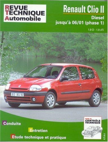 Renault Clio II Diesel jusqu'a 06/2001 (phase1)