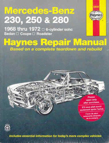 Mercedes Benz 230, 250 & 280 1968-72 (USA)