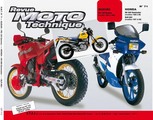 F071 Suzuki RG 125 85-88 Honda NX650 Dominator/SLR