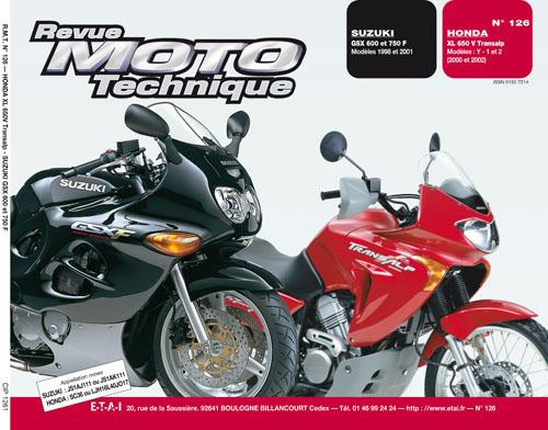 F126Honda XL650V Transalp Suzuki GSX600/750F 98-01