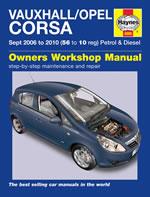 Opel/Vauxhall Corsa Petrol & Diesel 2006-10
