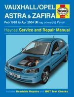 Opel/Vauxhall Astra & Zafira Petrol 1998-04