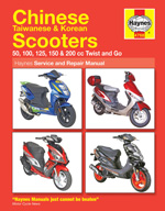 Chinese, Taiwanese & Korean Scooters 50, 125 & 150