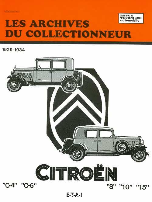 Citroen C4 - C6 Rosalie 1929-34 ( RTA AC5)