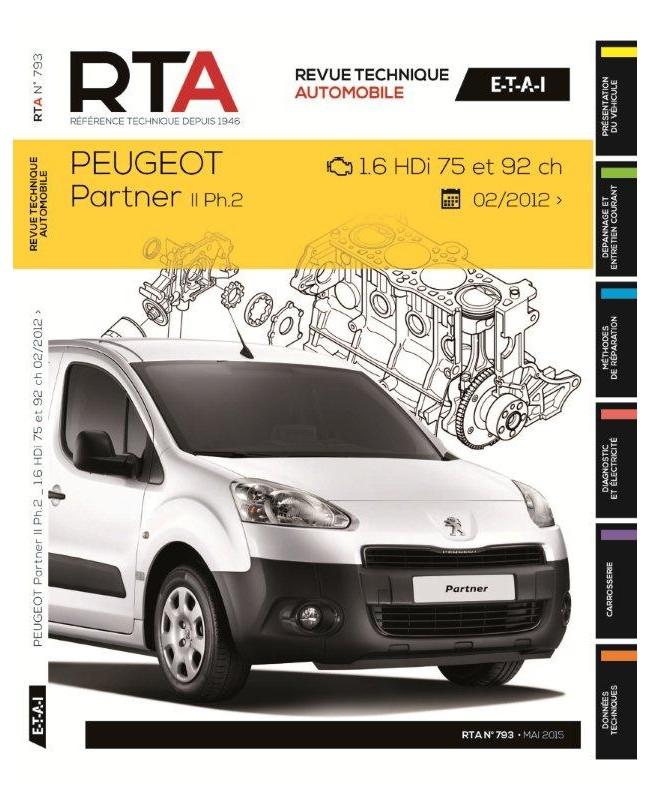 Peugeot Partner II 1.6HDI75-92CH Dp 2012 RTAB793