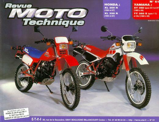 F061 Honda XLR250/350 1984-87 Yamaha XT/TT350 84-9