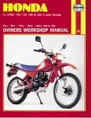Honda XL/XR 80, 100, 125, 185, 200 1978-87