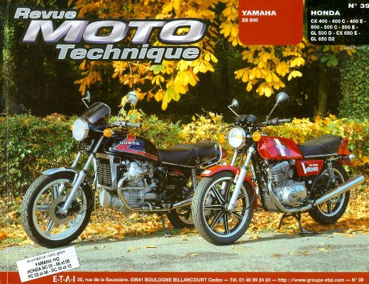 F039 Yamaha XS 500/HONDA CX 400-500 ET 650