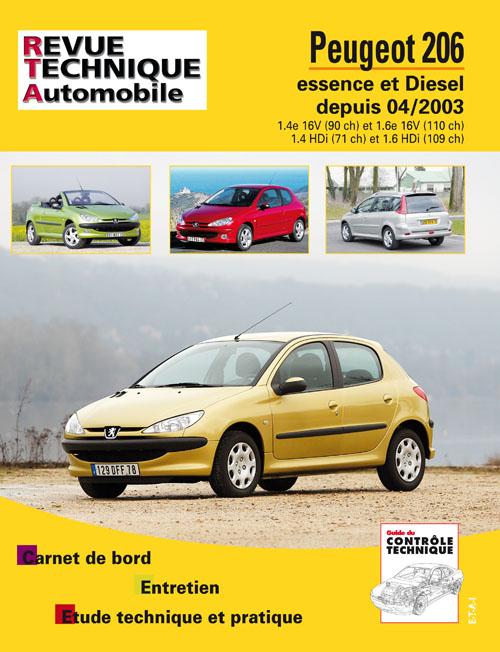 Peugeot 206 1.4Hdi, 1,6Hdi 2004- RTA694