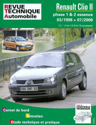 Renault Clio Phase 1 et 2 E 1998-07/2006 (RTA116)