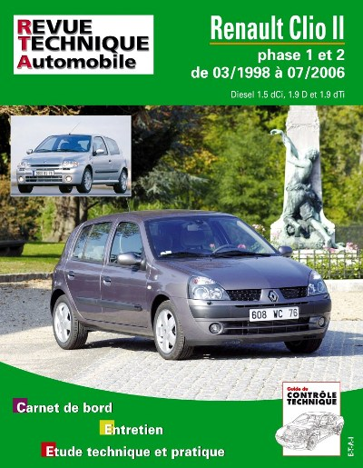 Renault Clio Phase 1 et 2 D 1998-07/2006 (RTA118)