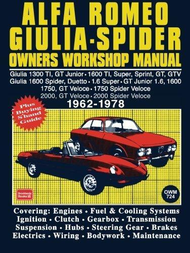 Alfa Romeo Giulia & Spider 1962-78