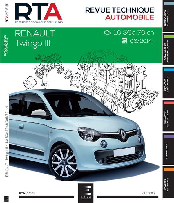 Renault Twingo III 1.0i (71 Ch) dp 2014 (RTA816)