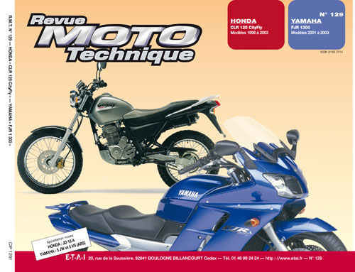 F129 Honda CLR125 1998-03 Yamaha FJ 1300 2001-2003