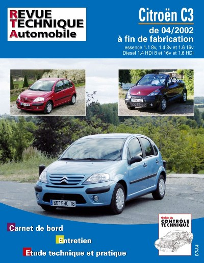 Citroen C3 Essence & D 04/2002 a fin fabric RTA107