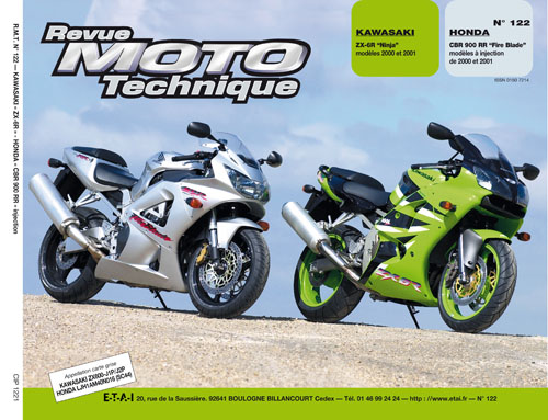 F122 Kawasaki ZX-6R 00-01 Honda CBR900RR Inj 00-01