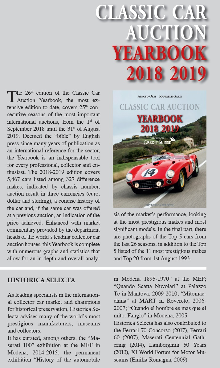 Classic Car Auction 2018-2019 Yearbook