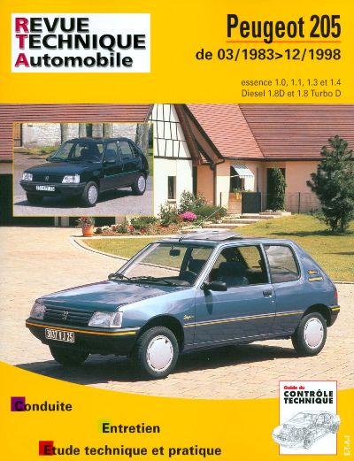 Peugeot 205 Essence & Diesel 03/83-12/98 (RTA112)