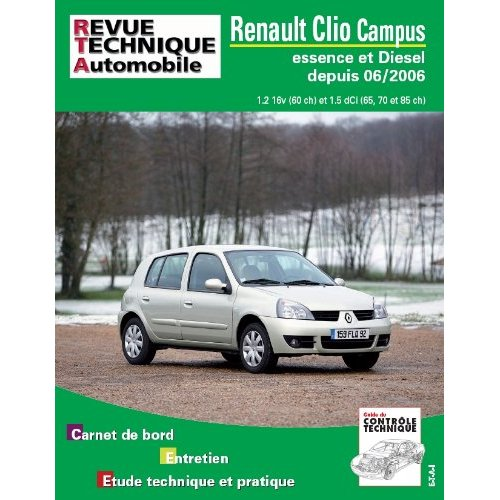 Renault Clio II Campus -06 1.2I & 1.5 Hdi RTAB726