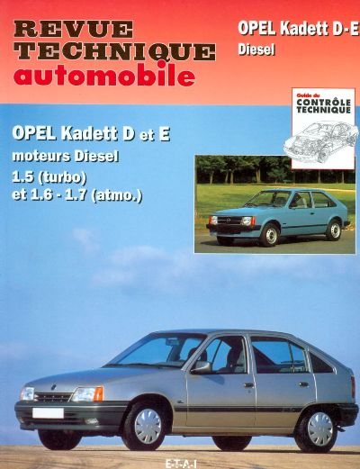Opel Kadett Diesel 1982-90 (RTA084)