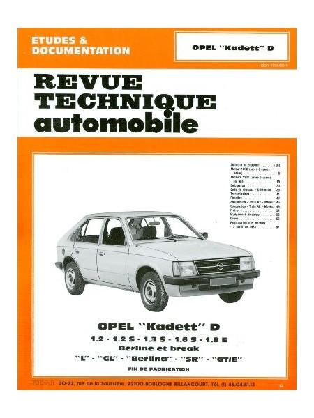 Opel Kadett D/Esssence 1980-84 (RTA405)