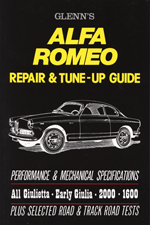 Alfa Romeo Glenns Repair & Tune-Up Guide