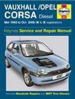 Opel Corsa/Vauxhall Diesel 1993-00