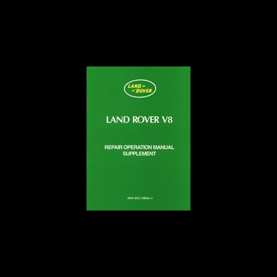 Land Rover Series 3 V8 Suplement Worshop Manual